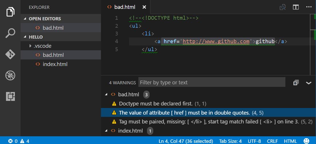 html-hint